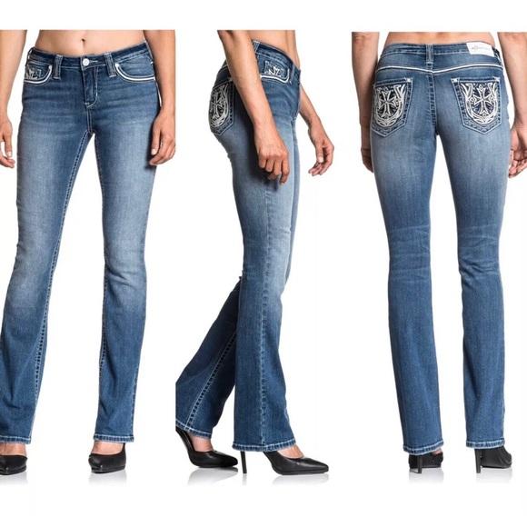 AFFLICTION Women/'s Denim Jeans JADE STANDARD KENZIE Embroidered Buckle $135 B36